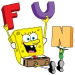 Sponge Bob having fun