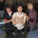 Max getting baptised