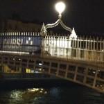 Ha'penny Bridge at night